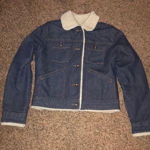 GAP Sherpa Lined Denim Jean Jacket size S